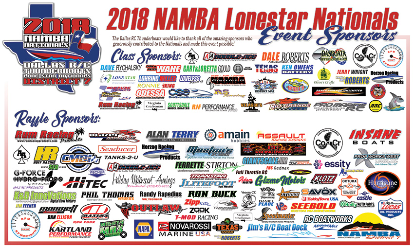 2018 Namba Nationals Special Thanks To Our Sponsors